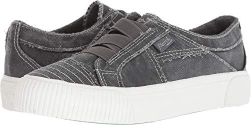 Blowfish Women's Crazee Sneaker, Grey Smoked Canvas, 9 Medium US
