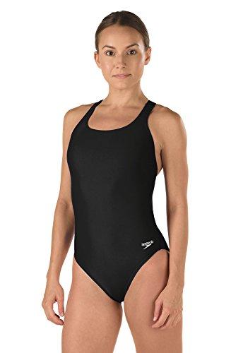 Speedo Women's Super Pro Racerback Swimsuit (30, Black) (Badeanzug Badeanzug)