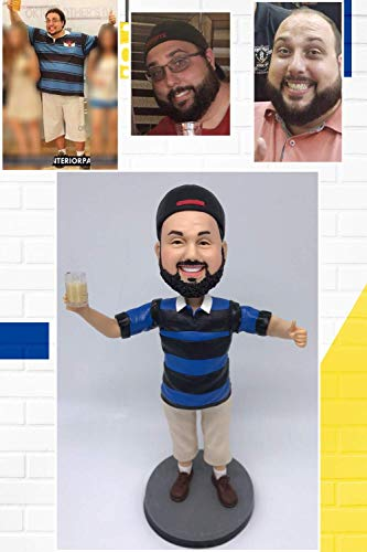 Fully Custom Boyfriend Bobblehead Figurine Personalized Gifts Husband Gift Boyfriend Gift Valentine's Day Gift Based on Your Photos for New Year, One person, DHL Expedited Shipping Service