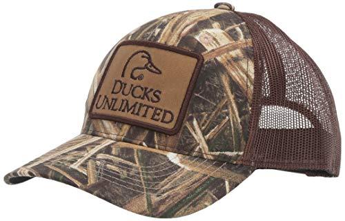 Outdoor Cap Ducks Unlimited Camouflage Patch Cap, Mossy Oak Shadow Grass Blades Ducks Brown