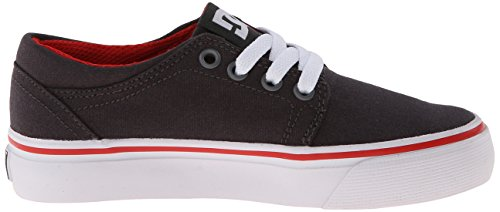 DC Shoes Trase TX - Zapatillas bajas para niña gris - Grau (DK SHADOW/WHITE/ATHLETIC RED- DWA)