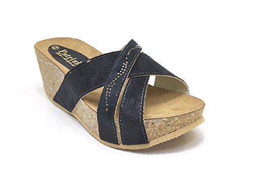 Patrizia - Sandalias de vestir de Piel para mujer Varios Colores multicolor 35 negro