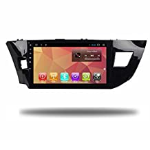 Android 7.1 Quad Core Car Radio GPS for Toyota Corolla Levin 2013-2016 Car Multimedia Player Navi with Bluetooth WiFi Stereo Navigation Audio Video (Android 7.1 for Toyota Levin 13-16)