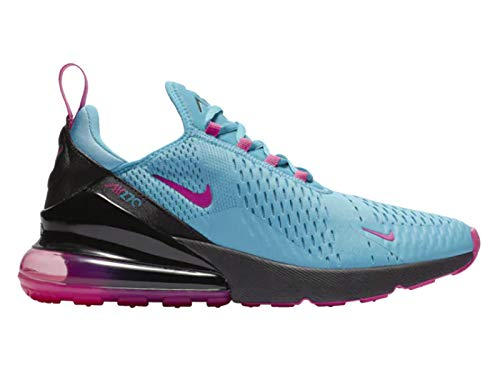 Nike Men's Air Max 270 Mesh Cross Trainers Shoes (12, Light Blue FuryLaser FuchsiaBlack)