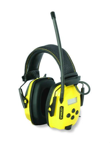 Stanley Sync Digital AM/FM/MP3 Radio Earmuff (Noise Canceling Radio)