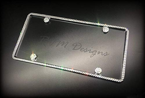 Bling 1 Row License Plate Frame made with Swarovski Crystals - Car Jewelry -  RVMdesigns