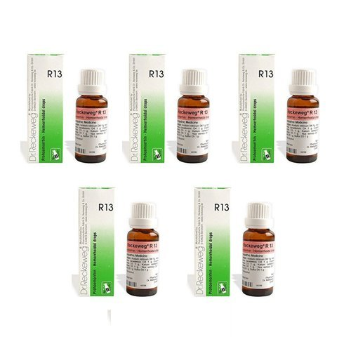 5 x Dr. Reckeweg - Homeopathic Medicine - R13 - Piles Drops.