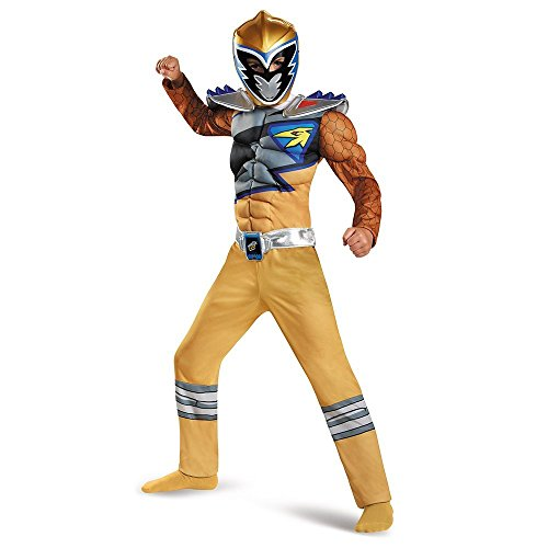 Gold Ranger Dino Charge Costume (Power Rangers Dino Charge Gold Ranger Deluxe Muscle Child Costume)