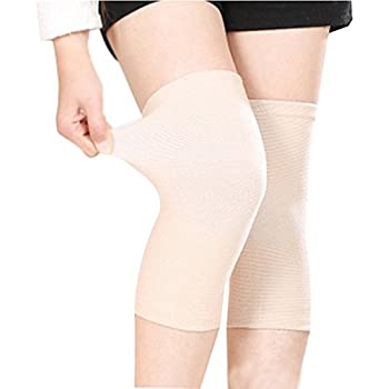 (One Pair) Unisex Bamboo Fabric Knee Sleeves for Knee Support, Circulation Improvement & Pain Relief,Sport Compression for Running, Pain Management, Arthritis Pain Women & Men