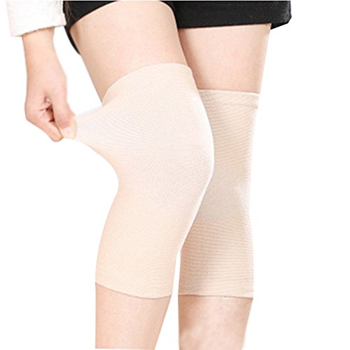 - (One Pair) Unisex Bamboo Fabric Knee Sleeves for Knee Support, Circulation Improvement & Pain Relief,Sport Compression for Running, Pain Management, Arthritis Pain Women & Men