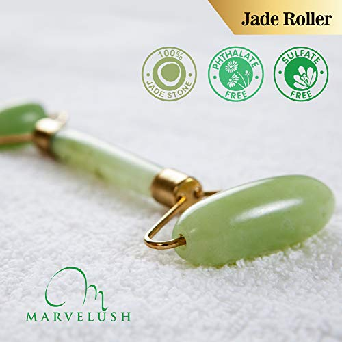 Derma Roller, Jade Roller & Hyaluronic Acid Serum | Anti-aging Facial Skin  Care | Reduce Dark Under- Eye Circles | 540 Titanium Microneedles 0 3mm |