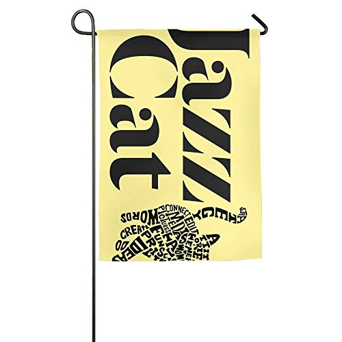 Pingshoes Online Jazz Music Summer Lawn Yard House Garden Flags 12 X 18 All-Weather Polyester Decorative