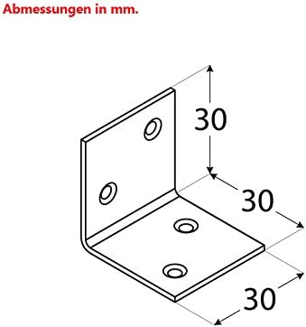 Breitwinkel Winkel Winkelverbinder Holzverbinder Stahl verzinkt 30x30x30mm