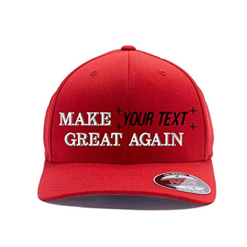 (Make Your Text Great Again. Embroidered. 6477 Wool Blend (L/XL, Red))