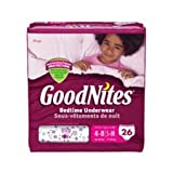 Health & Personal Care : Goodnites Underwear - Girl - Small/Medium - 26 ct