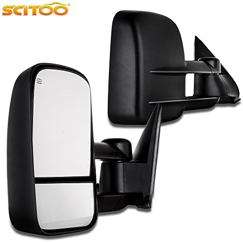 02 Chevrolet Suburban Manual - Towing Mirrors, for Chevy GMC SCITOO Exterior Accessories Mirrors for 1999-2002 Chevy/GMC Silverado/Sierra with Power Controlling Convex Glass Manual Telescoping and Folding Features
