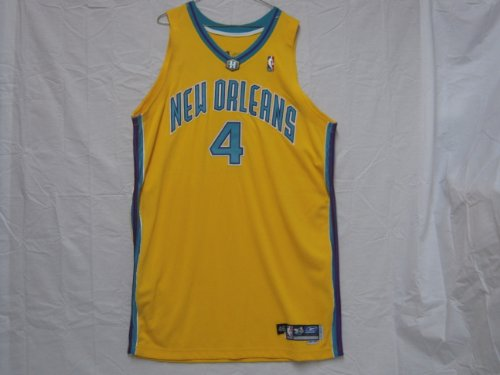 - #4 David Wesley 2004-05 New Orleans Hornets Game Worn Jersey