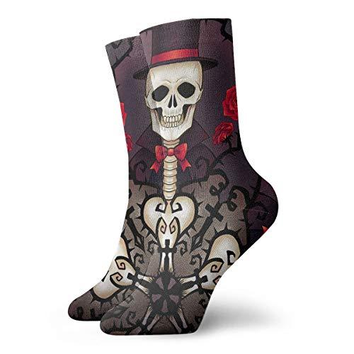 YUANSHAN Socks Skull Gentleman Women & Men Socks Soccer Sock Sport Tube Stockings Length 11.8Inch -
