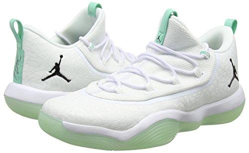 Jordan Basket Uomo 117 Nike Super Rise 2017 Low Scarpe white Bianco black fly emerald pwqqUx1BR