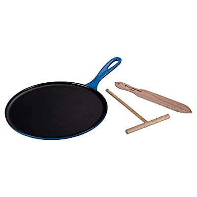 Le Creuset 10 3/4 in. Crepe Pan with Rateau and Spatula