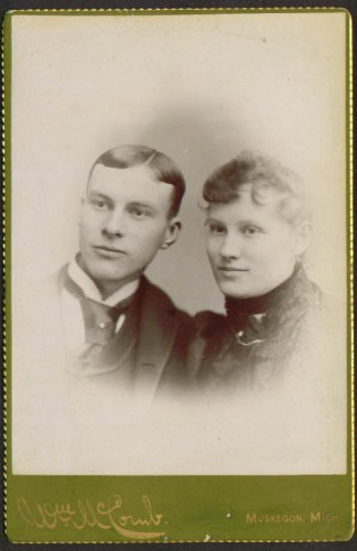 Young couple fair blonde cabinet McComb Muskegon MI ()