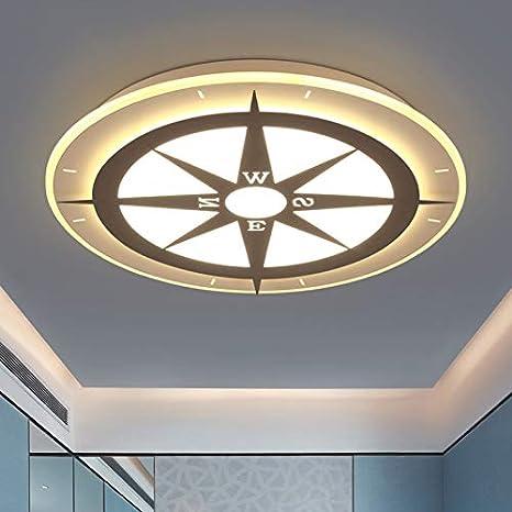 LITFAD Modern Art Deco Dimmable LED Ceiling Light Compass Design 20.5\