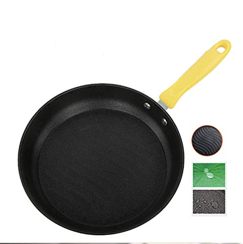 Professional Hard Anodized Nonstick Omelet Fry Pan Set, 10'/11', Yellow Non-Stick Dishwasher safe Open Frypan Cookware