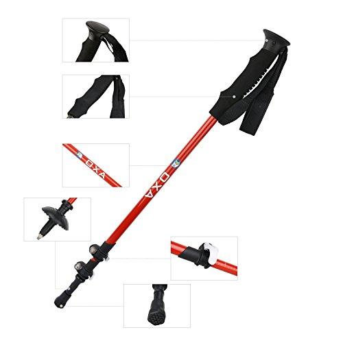 OXA 100% Carbon Fiber Quick Lock Anti-Shock Walking Trekking Hiking Poles with Foam Handles and Straps. Ultralight Adjustable Hiking Walking Trekking Camping Sticks, 2-Pack