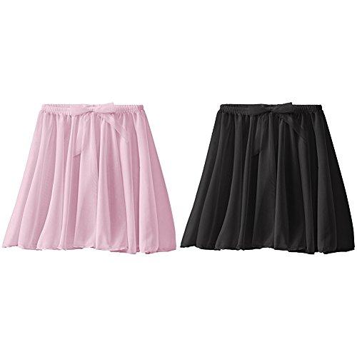 Capezio Girls 2 Pack Pull On Skirt Pink/Black, Toddler