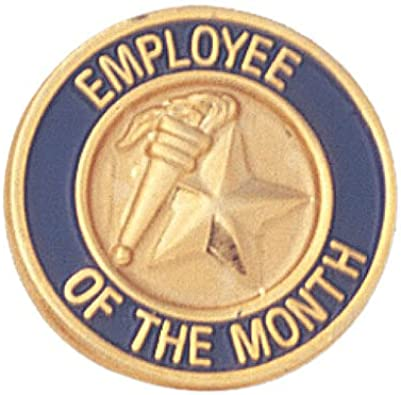 Crown Awards 1 x 1 Recognition Pins Perfect Employee of The Month Recognition Lapel Pins to Reward Any Employee Gold