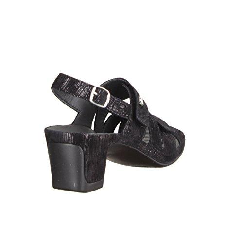 Vital 0545-1599- Damenschuhe Sandalette / Sling, Schwarz, leder, absatzhöhe: 50 mm