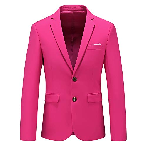 Mens Casual Two Button Single Breasted Suit Jacket Modern Wedding Tux Blazer US Size 40 (Label Size 4XL) ()
