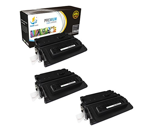 Catch Supplies 81A CF281A 3-Pack Premium Black Replacement Toner Cartridge Compatible with HP LaserJet Enterprise MFP M630h M630dn M630f M630z M630 M604 M605 M606 Laser Printers |10,500 Yield| by Catch Supplies
