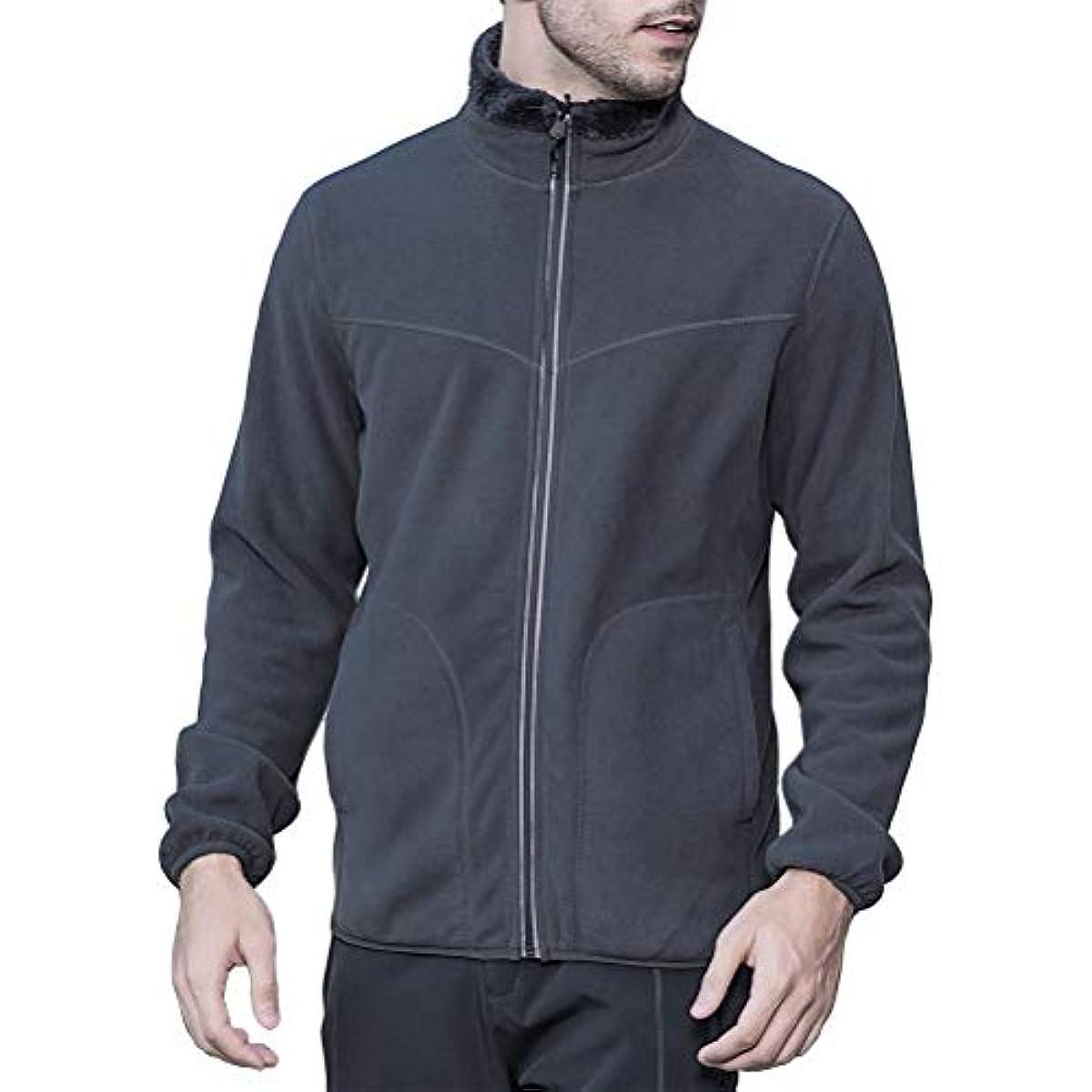 [해외] 추동 기모안감양면 겸용 보아 플리스fleece 트레이너 실내착 일상용 재킷 맨즈 블루종 캐주얼 따뜻하 멋장이 방한 YUKIHARA
