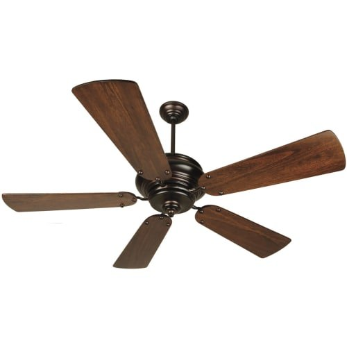 Craftmade Fans TS52OB 54'' Townsend Brushed Nickel Ceiling Fan w/ Remote & B554PD-WAL Blades by Craftmade