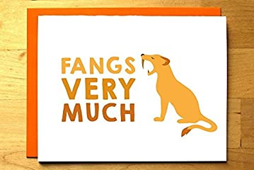 Fangs Very Much - Saber-Toothed Tiger Thank You Card