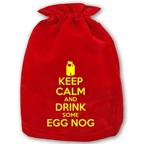 Large Christmas Sacks Christmas Egg Nog Present Bag with Drawstring]()