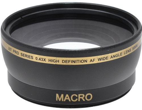 Xit XT58WAB 58mm 0.43 Wide Angle Lens (Black)