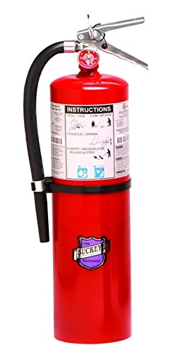 Buckeye 12620 Purple K Dry Chemical Hand Held Fire Extinguisher with Aluminum Valve and Wall Hook, 20 lbs Agent Capacity, 5-1/8'' Diameter x 7-3/4'' Width x 21'' Height