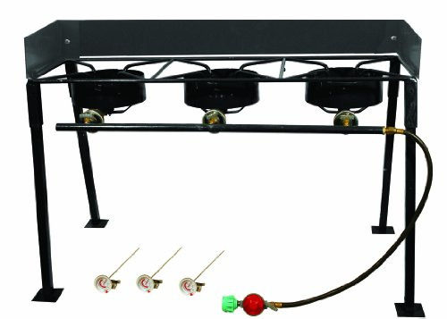 King Kooker CS42 Portable Propane 54,000-BTU Triple-Burner Outdoor Camp - Propane Outdoor Cooker Rectangular