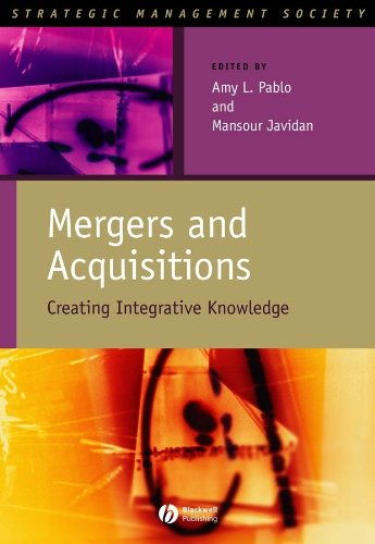 Mergers and Acquisitions: Creating Integrative Knowledge (Strategic Management Society) pdf epub