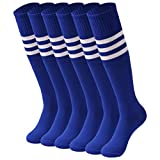 saounisi Football Socks Men, Unisex Soccer Knee High Team Socks 2/6/10 Pairs