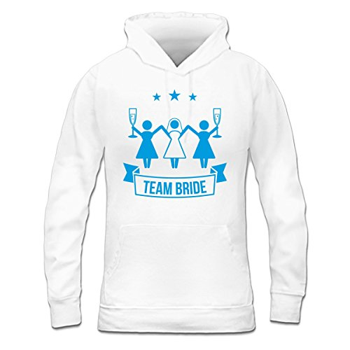 Sudadera con capucha de mujer Team Bride Drinking by Shirtcity Blanco