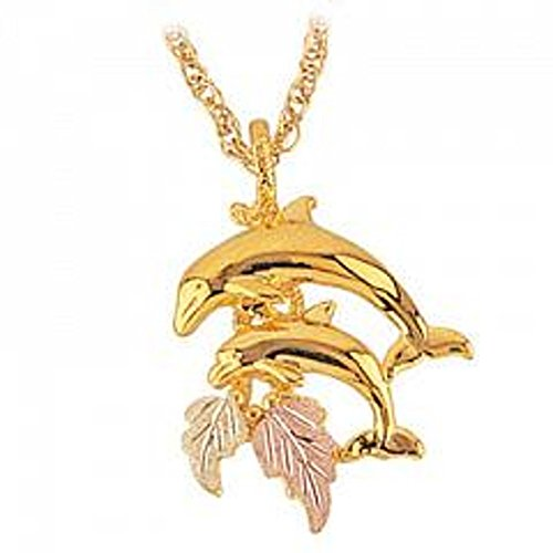 Black Hills Gold Necklace - Dolphin ()