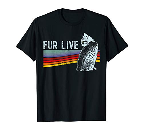 Cat T-Shirt Funny Retro Design For Men, Women And Kids