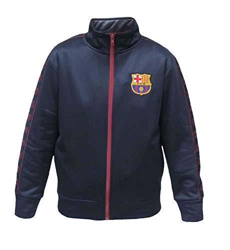 (Junior Boys FC Barcelona Official Soccer Club Full Zip Track Jacket (Navy, Small))