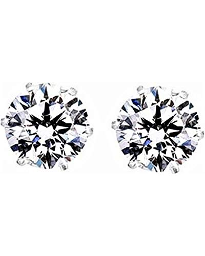 - 5 Pairs of Surgical Stainless Steel Aurora Borealis Crystal CZ Stud Earrings 3,4,5,6, 7mm