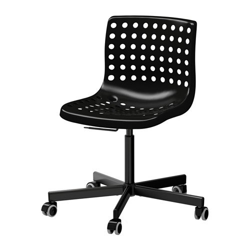 IKEA(イケア) SKALBERG / SPORREN 回転チェア, ブラック (79023598) B0185X6VVA
