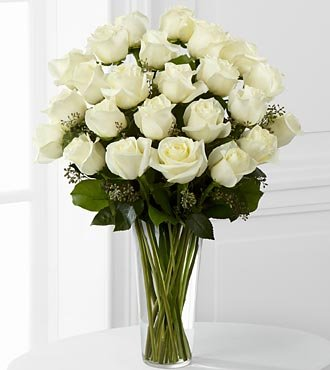 FTD Flowers White Rose Bouquet -24 Stems - Delivered by a Local Florist