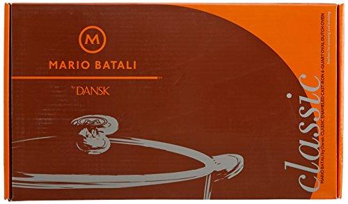 Mario Batali by Dansk Enameled Cast Iron 6-Quart Oval Dutch Oven, Persimmon